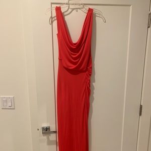 BCBG MaxAzria women's XS long red dress